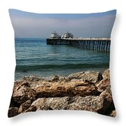 Malibu Pier Throw Pillow