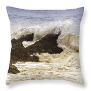 Malibu Waves Throw Pillow