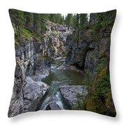 Maligne Canyon #2 Throw Pillow