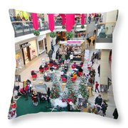 Mall Before Christmas Throw Pillow