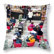 Mall Food Court Throw Pillow
