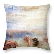 Turner's Approach To Venice Throw Pillow