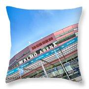 Malmo Arena 01 Throw Pillow