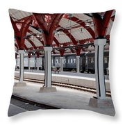 Malmo Train Station Throw Pillow