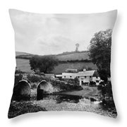 Malmsmead Bridge, C1900 Throw Pillow