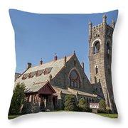 Malone Church Throw Pillow