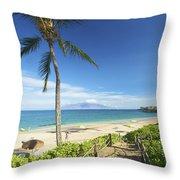 Maluaka Beach Park Throw Pillow