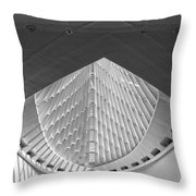 Mam In Black And White Throw Pillow