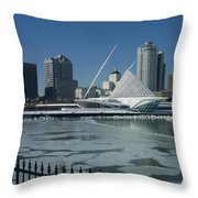 Mam In Winter From Water Throw Pillow