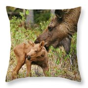 Mama Loves Me Throw Pillow
