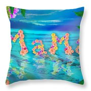 Mama Ocean Throw Pillow