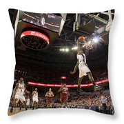 Mamadi Diane Dunk Against Boston College Throw Pillow