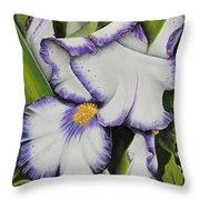 Mama's Favorite Iris Throw Pillow