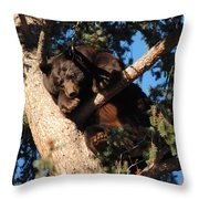 Mama's In The Tree Throw Pillow