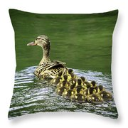 Mamas Peeps Are Not In A Row Throw Pillow