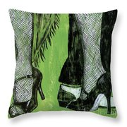 Mambo Throw Pillow by Debbie DeWitt