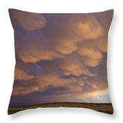 Mammatus Over Flagler 2 Throw Pillow