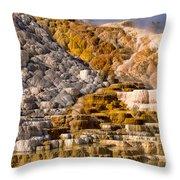 Mammoth Hot Spring Throw Pillow