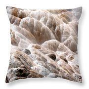 Mammoth Hot Springs Closeup Throw Pillow