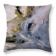 Mammoth Hot Springs Terrace Throw Pillow