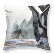 Mammoth In The Distance Throw Pillow