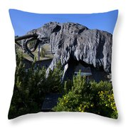 Mammoth Mountain Ski Area Throw Pillow