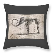 Mammoth Skeleton Throw Pillow