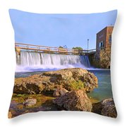 Mammoth Spring Dam And Hydroelectric Plant - Arkansas Throw Pillow