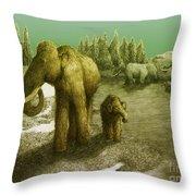 Mammoths Throw Pillow