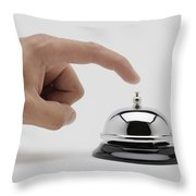 Man About To Ring A Bell Throw Pillow