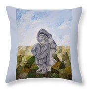 Man And Earth Throw Pillow