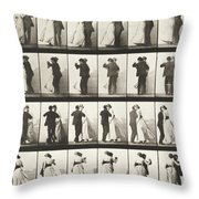 Man And Woman Dancing A Waltz Throw Pillow