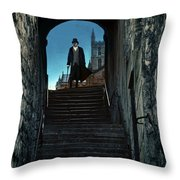 Man At The Top Of The Steps Throw Pillow