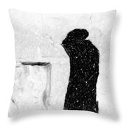 Man At Western Wall Throw Pillow