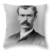 Man, C1890 Throw Pillow