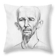 Man Head Study Throw Pillow