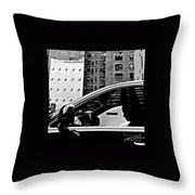Man In Car - Scenes From A Big City Throw Pillow