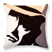 Man In Hat Throw Pillow