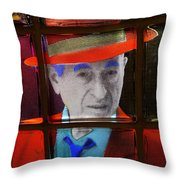 Man In Red Fedora Throw Pillow
