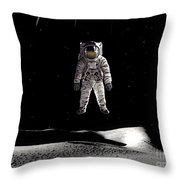 Man In Space Throw Pillow