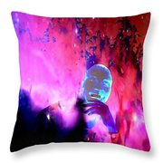 Man In Space Pondering Thoughts Throw Pillow