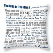 The Man In The Glass Poem Throw Pillow