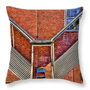 Man In The Window Throw Pillow