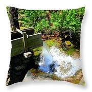 Man Made Waterfall V2 Throw Pillow