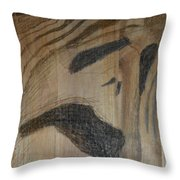 Man Of Sorrows I - Back Throw Pillow