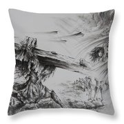 Man Of Sorrows Throw Pillow