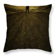 Man On A Mission Throw Pillow