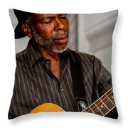 Man On Guitar Throw Pillow