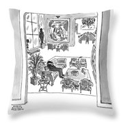Man Sits On A Couch In An Expensive Living Room Throw Pillow
