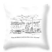 Man Speaks To Woman As They Look Throw Pillow